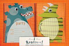 Kindergeburtstag Dinosaurier Einladungen