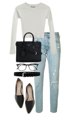 """""""Untitled #4106"""" by theeuropeancloset on Polyvore featuring Levi's, For Love & Lemons, Yves Saint Laurent and IRO"""