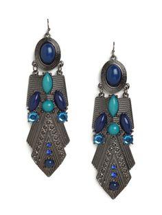 Azure Amun Earrings - View All - Categories - Shop Jewelry   BaubleBar