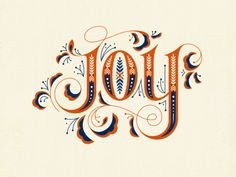 """""""Joy"""" print created by Clairice M Gofford for Modify Ink - available to buy at the link. #prints #Christmas #holidays #decor #joy #walls #home"""