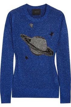 Lulu & Co|Saturn-intarsia metallic sweater
