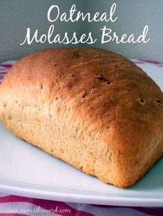 Oatmeal Molasses Bread – Is there anything better than warm homemade bread? I do… Oatmeal Molasses Bread – Is there anything better than warm homemade bread? This oatmeal molasses bread has simple ingredients and tastes amazing! Bread Machine Recipes, Bread Recipes, Cooking Recipes, Molasses Bread Machine Recipe, Oatmeal Molasses Bread Recipe, Potato Recipes, Casserole Recipes, Pasta Recipes, Crockpot Recipes
