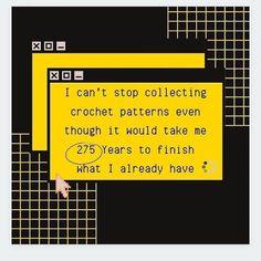 Crochet Humor, Crochet Patterns, Funny Memes, Lol, Social Media, Crafty, Feelings, Crocheting, Fiber