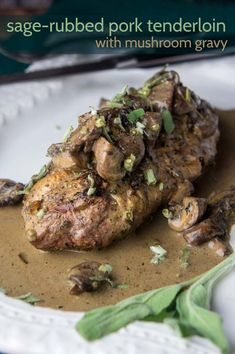 Pork Loin with Mushroom Gravy by @ForagedDish