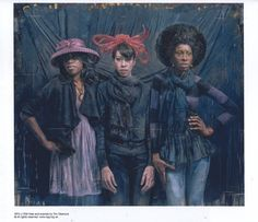 Painting of me and friends by Tim Okamura