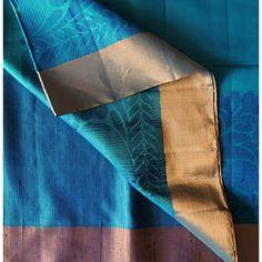 Buy KSS140002-THAMBOORI's Handwoven Soft Kanchipuram Silk-Sea Green Blue combo online - Handwoven Kanchivarams,Soft Silks, Silk Cottons and ...