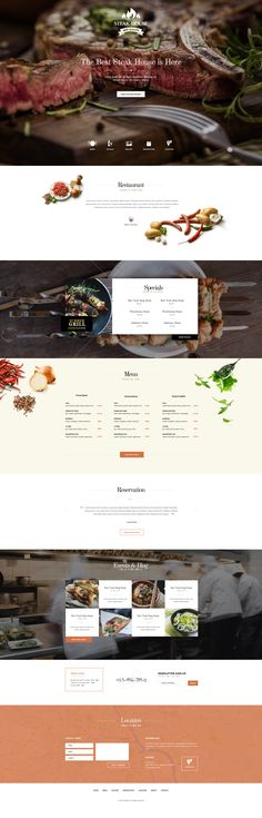 They put the menu right on their front page. I've never seen a restaurant do that before, but it's genius! Restaurant Site Web, Restaurant Themes, Restaurant Design, House Restaurant, Website Design Layout, Web Layout, Layout Design, Food Web Design, Menu Design