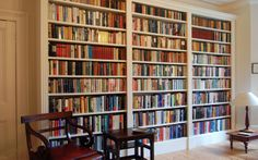 home office design ideas - #wooden #bookshelf