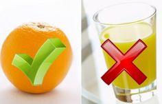Frische Orangen oder frisch gepresster Saft statt Orangensaftkonzentrat