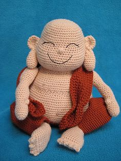 Laughing Buddha Amigurumi Monk Doll by Millionbells