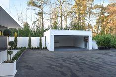 Modern Carport, Double Carport, Garage Double, Modern Garage, Detached Garage Designs, Carport Designs, Patio, Backyard, Garage Plans With Loft