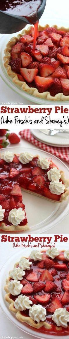 Easy Strawberry Pie (Like Frisch's and Shoney's