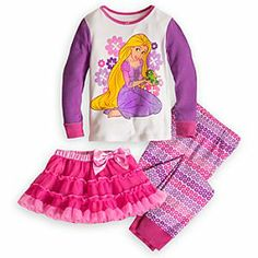 Disney Rapunzel Deluxe PJ Pal and Tutu Set for Girls | Disney StoreRapunzel Deluxe PJ Pal and Tutu Set for Girls - Our Rapunzel Deluxe PJ Pal and Tutu Set will create dreams of enchantment. This three-piece set combines the soft, snuggly comfort of 100% cotton pajamas with a matching tutu for her castle in the clouds.