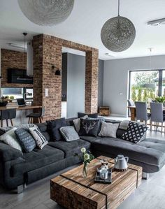 29 Beautiful Black and Silver Living Room Ideas to Inspire   Silver ...