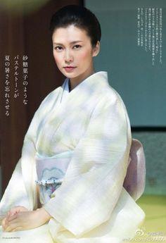 Ko Shibasaki(柴咲コウ) / 小千谷縮 / 紗紬の八寸帯