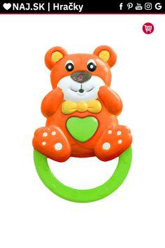Detská hrkálka so zvukom Baby Mix Medvedík oranžová Baby, Babys, Infant, Babies, Infants, Kid, Child