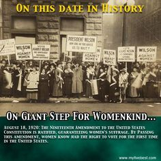 Women made a huge step forward in U.S. history on this date. Find out more interesting facts at: http://www.myfivebest.com