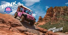 Pink Jeep Tours' Broken Arrow Tour is Sedona's most extreme off-road adventure that takes you on a fun ride across this unique Southwest terrain. Rugged off-road adventure in the iconic, custom-built, open-air pink Jeep® Wrangler! #1 Rated Thing to do In Sedona. #sedona