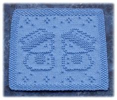 Ravelry: Snow Buddies Dishcloth pattern by Rachel van Schie Knitted Squares Pattern, Knitted Dishcloth Patterns Free, Knitting Squares, Knitted Washcloths, Crochet Dishcloths, Knit Or Crochet, Loom Knitting, Knitting Stitches, Knitting Designs