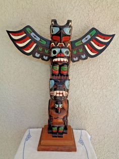 native american totem poles paintings totem totempaal pinterest native. Black Bedroom Furniture Sets. Home Design Ideas