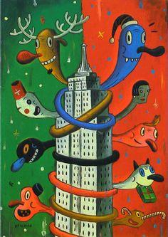 Gary Baseman Christmas card