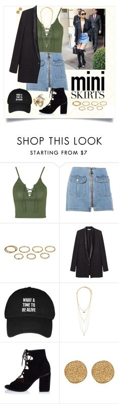 """Tweety"" by queenofdistopia ❤ liked on Polyvore featuring Topshop, Moschino, Akira, Helmut Lang, Forever 21, River Island, Karen Kane, Clips, contest and contestentry"