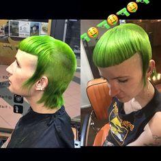 green chelseacut Worst Haircut Ever, Chelsea Cut, Alternative Hair, Mullets, Bad Hair, Bangs, Hair Cuts, Punk, Lady