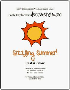 The Teaching Studio: Now Available: Sizzling Summer Preschool Music lesson plan