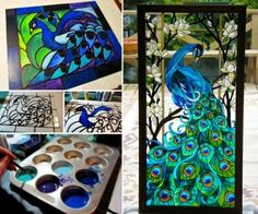 Faux Stained Glass with Acrylic Paint and Glue Tutorial