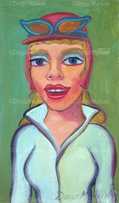 Penelope Glamour 2 , acrílico sobre tela, 29 x 17 cm. 2015.
