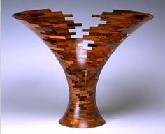 """Bud Latven, large """"Impact Fracture"""", wood"""