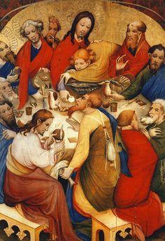 Soest, Conrad - Last Supper Catholic Art, Catholic Saints, Religious Art, Anima Christi, Art Eras, Christ The King, Artwork Images, Last Supper, Holy Week