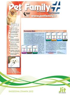 Exclusion Diet Formula. http://justintimesrl.wordpress.com/2012/11/28/exclusion-diet-su-pet-family/