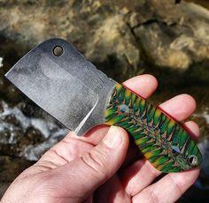 Cool Knives, Knives And Swords, Cleaver Knife, Belt Grinder, Neck Knife, Straight Razor, Fixed Blade Knife, Custom Knives, Knife Making