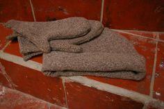 avec un vieux pull en laine