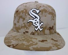 White Sox Digital Camo Memorial Day Fitted Hat Cap New Era 59 Fifty Size 7   bff81c48644