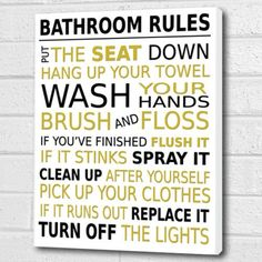 Bathroom Rules Wall Art Box Canvas Gold Black A3 12x16 Inch Cheryl Monaghan Http Www Amazon Co Uk Bathroom Rules Wall Art Bathroom Rules Box Art