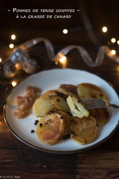 Pommes de terre confites (poêlée salardaise) Pancakes, French Toast, Breakfast, Desserts, Food, Christmas Open House Menu, Cook, Morning Coffee, Tailgate Desserts