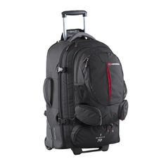 Caribee Sky Master 70 Travelpacks  travelpack  70L Light weight wheel travel pack