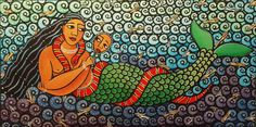 "Mami Wata translates to ""Mother Water"" from Pidgin English and is celebrated throughout much of Africa and the African Atlantic – often depicted as a mermaid or a snake charmer or a combination of both."