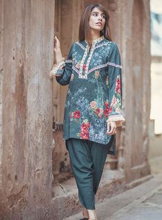 Cross Stitch Catalan sprout Linen 2017 Stitch StitchCatalan sprout StitchLinen Stitchfashion Whatsapp: 00923452355358 Website: www. Pakistani Fashion Casual, Pakistani Dresses Casual, Pakistani Dress Design, Girls Dresses Sewing, Stylish Dresses For Girls, Simple Dresses, Fancy Dress Design, Stylish Dress Designs, Beautiful Pakistani Dresses