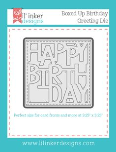 lauralooloo: Happy Birthday Shaker Card {Lil' Inker Designs}