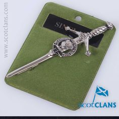 Pewter kilt pin with Sinclair clan crest from ScotClans