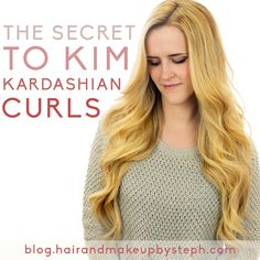 The Secret To Kim Kardashian Curls - http://www.trend-hairstyles.com/make-up-and-hair-style/the-secret-to-kim-kardashian-curls.html