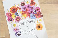 Collage : une jolie chevelure fleurie - Un jour un jeu