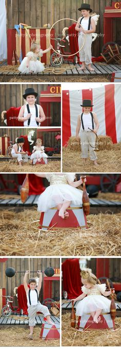 Circus Minis | Imagination Session | Dalton & Harper | Raeford, NC Child Photographer | Patty K Photography