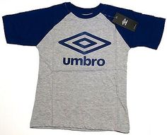 Umbro Sports Short Sleeve Soccer T Shirt Blue Youth Sizes S,M,L & XL