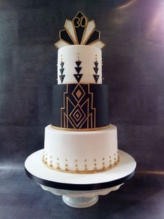 Art Deco birthday cake - Art Deco birthday cake    Art Deco birthday cake from Mandy – cakesdecor.com / …  #birthday #decoration #love #decor #party #interiordesign #happybirthday #homedecor #happy #design #birthdaygirl #interior #family #art #photography #home #hiphop #architecture #instagood #interiors #food #designer #music #fun #homedesign #cake #furniture #travel #interiordesigner #friends Art Deco Cake, Cake Art, 1920s Cake, Estilo Gatsby, Roaring 20s Birthday Party, 21st Party, 40th Birthday Cakes, Art Birthday, Birthday Bash