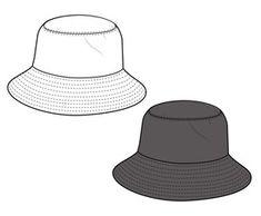 Bucket hat  vector illustration flat sketches template