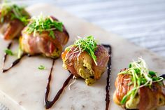 Creamy pesto stuffed mushrooms wrapped in streaky bacon were such a hit with the entire family. They are so simple to make, I just wish I had tried this earlier.